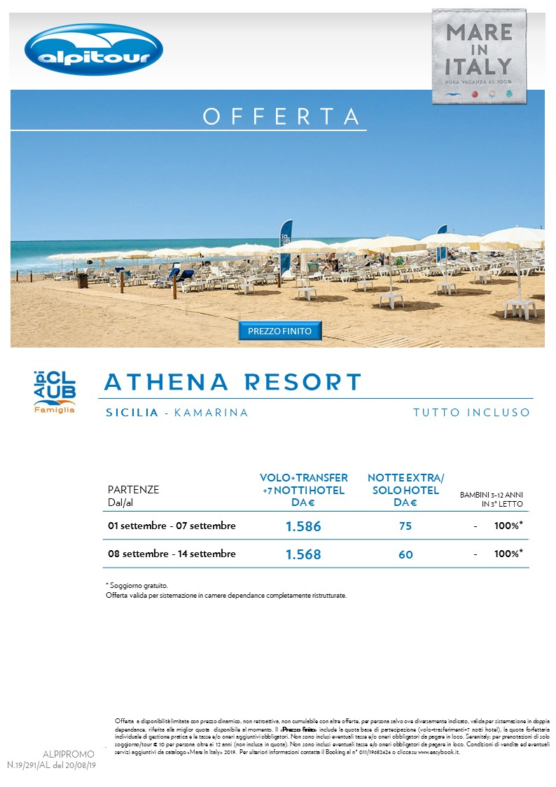 ATHENA RESORT > SICILIA